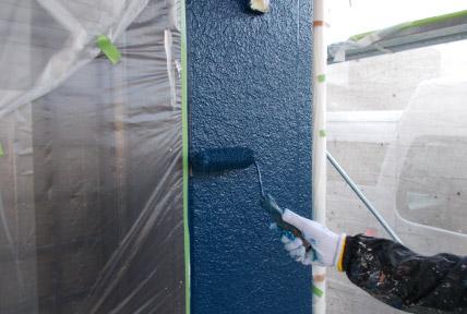 4度塗りを標準とした外壁塗装