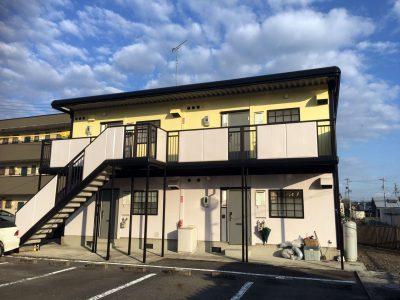 岐阜県可児市のアパート、塗装工事完了!