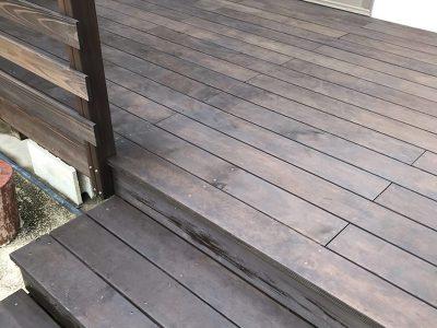 名古屋市緑区 ウッドデッキ塗装完了