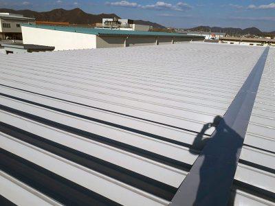 各務原市 工場の屋根塗装完了